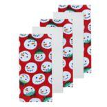 St. Nicholas Square® Snowman Head Kitchen Towel 5-pack