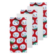 St. Nicholas Square® Snowman Head Kitchen Towel 5-pack