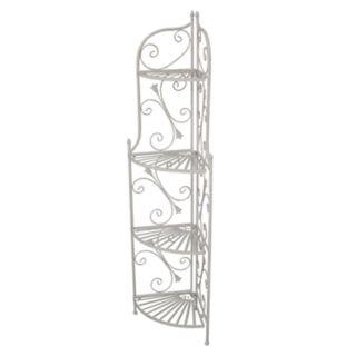 Indoor / Outdoor Foldable 4-Shelf Corner Plant Shelf