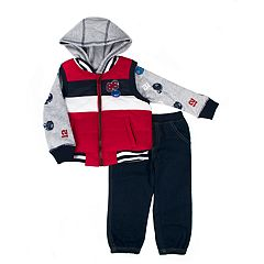 Toddler Boy Little Rebels Vest, Hoodie & Pants Set