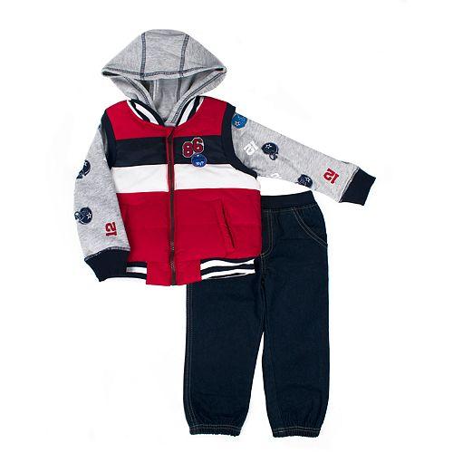 Toddler Boy Little Rebels Vest, Hoodie & Pants Set