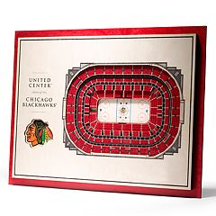 Chicago Blackhawks 3D Stadium Wall Art