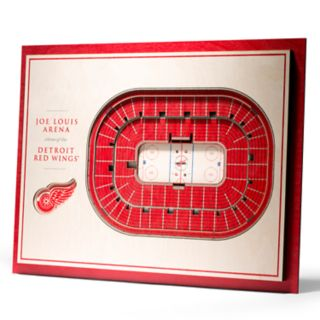 Detroit Red Wings 3D Stadium Wall Art