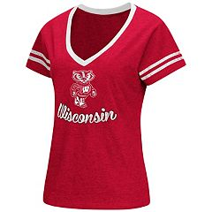 Women's Colosseum Wisconsin Badgers Dual Blend Tee