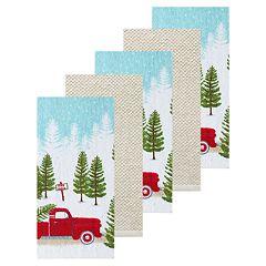 St. Nicholas Square® Truck Kitchen Towel 5-pack