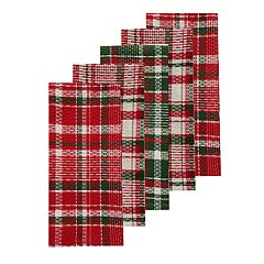 St. Nicholas Square® Holiday Plaid Kitchen Towel 5-pack