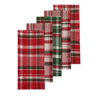 St. Nicholas Square® Holiday Plaid Kitchen Towel 5-pack
