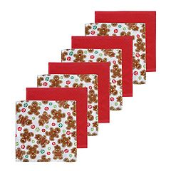 St. Nicholas Square® Gingerbread Dishcloth 8-pack
