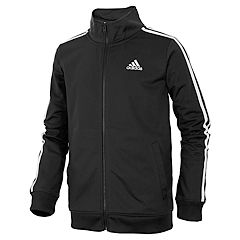Boys 4-7x adidas climalite Front Zip Tricot Track Jacket