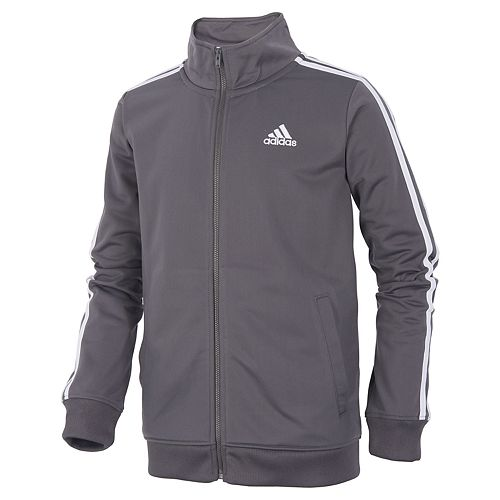 5e62e840d Boys 4-7x adidas climalite Front Zip Tricot Track Jacket