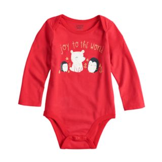 "Baby Girl Jumping Beans® ""Joy To The World"" Graphic Bodysuit"