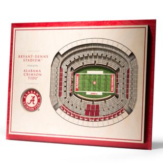 Alabama Crimson Tide 3D Stadium Wall Art