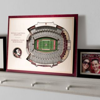 Florida State Seminoles 3D Stadium Wall Art