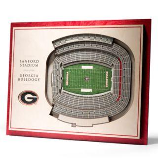 Georgia Bulldogs 3D Stadium Wall Art