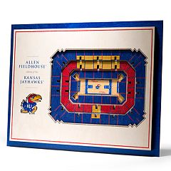 Kansas Jayhawks 3D Stadium Wall Art