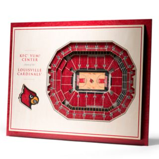 Louisville Cardinals 3D Stadium Wall Art