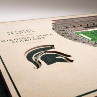 Michigan State Spartans 3D Stadium Wall Art