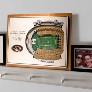 Missouri Tigers 3D Stadium Wall Art