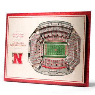 Nebraska Cornhuskers 3D Stadium Wall Art