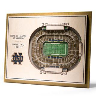 Notre Dame Fighting Irish 3D Stadium Wall Art