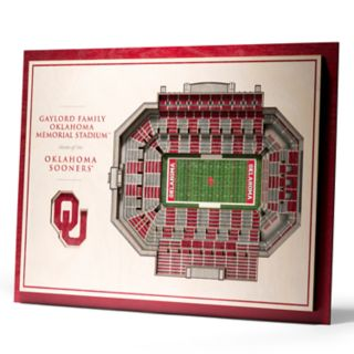 Oklahoma Sooners 3D Stadium Wall Art