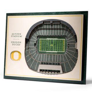 Oregon Ducks 3D Stadium Wall Art