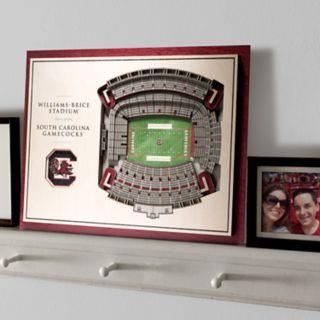South Carolina Gamecocks 3D Stadium Wall Art