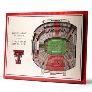 Texas Tech Red Raiders 3D Stadium Wall Art