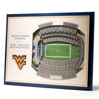 West Virginia Mountaineers 3D Stadium Wall Art