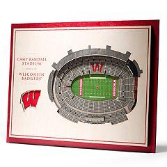 Wisconsin Badgers 3D Stadium Wall Art
