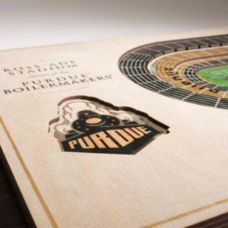 Purdue Boilermakers 3D Stadium Wall Art