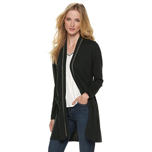 Women's Jennifer Lopez Studded Long Cardigan