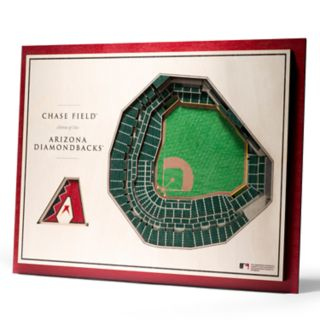 Arizona Diamondbacks 3D Stadium Wall Art