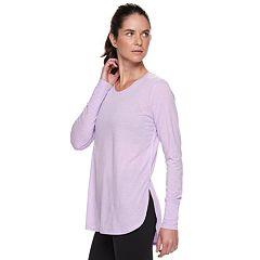 Women's Tek Gear® Jersey High Slit Long Sleeve Tunic Tee