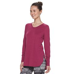 a026b2a1e8b Women's Tek Gear® Jersey High Slit Long Sleeve Tunic Tee