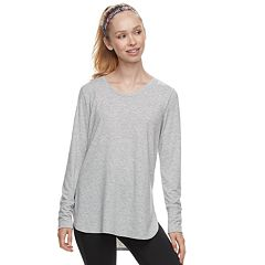 Women's Tek Gear® Jersey High Slit Long Sleeve Tunic Tee