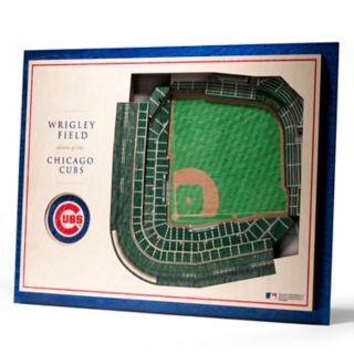 Chicago Cubs 3D Stadium Wall Art