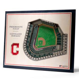 Cleveland Indians 3D Stadium Wall Art