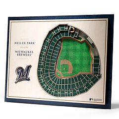 Milwaukee Brewers 3D Stadium Wall Art