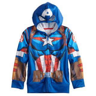 Boys 4-12 Jumping Beans® Marvel Captain America Zip Hoodie