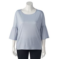 Plus Size LC Lauren Conrad Bell Sleeve Top