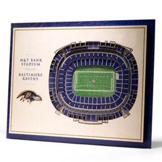 Baltimore Ravens 3D Stadium Wall Art