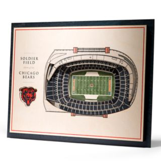 Chicago Bears 3D Stadium Wall Art