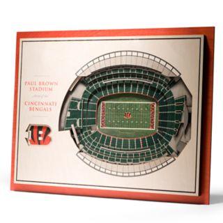 Cincinnati Bengals 3D Stadium Wall Art