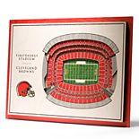 Cleveland Browns 3D Stadium Wall Art