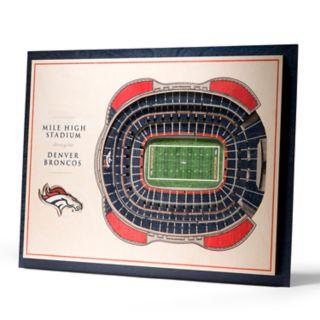 Denver Broncos 3D Stadium Wall Art