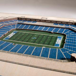 Detroit Lions 3D Stadium Wall Art