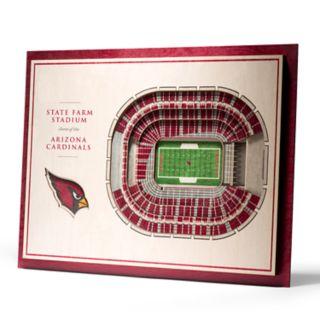 Arizona Cardinals 3D Stadium Wall Art