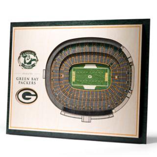 Green Bay Packers 3D Stadium Wall Art