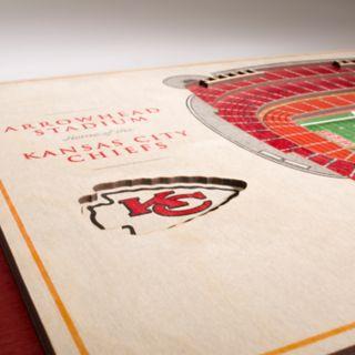 Kansas City Chiefs 3D Stadium Wall Art